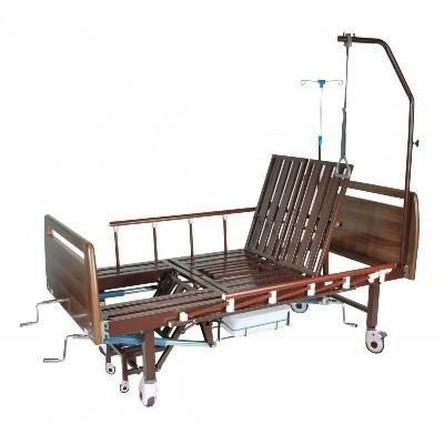 Механическая медицинская кровать с санитарным оснащением DHC FF-2 с функциями «кардио-кресло» и переворачивания пациента               арт. RX22257