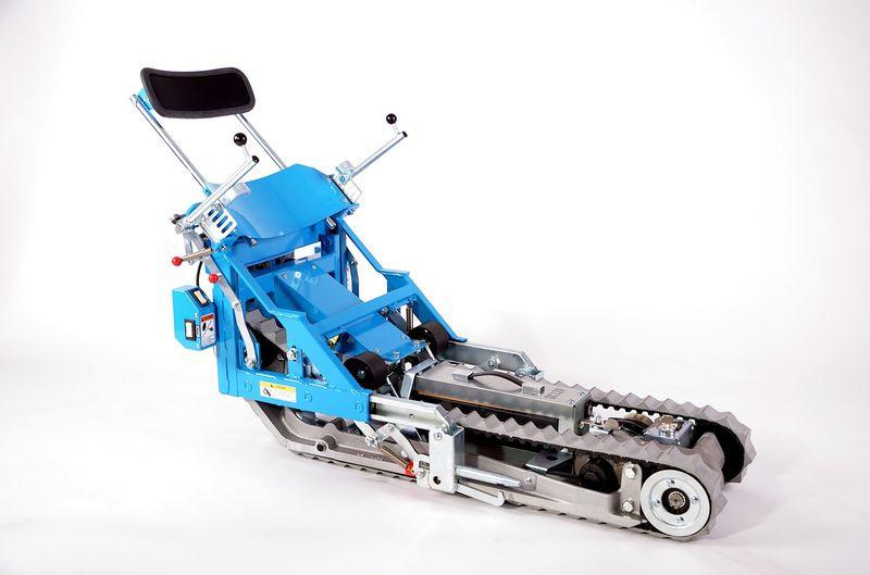 Лестничное гусеничное подъемное устройство для инвалидов Stairmax в комплекте с адаптированной коляской