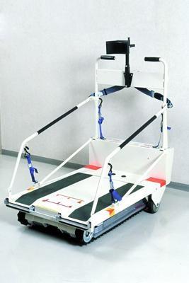 Лестничный  гусеничный мобильный подъемник по лестничному маршу для инвалидов Public