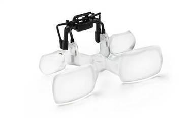 Галилеевская система (лупа-клип с креплением на очки) для работы с мелкими предметами maxDETAIL Clip, 2.0х                        арт. Мзр24417