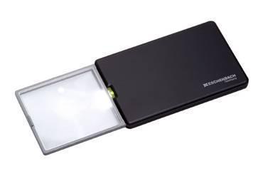 Лупа дифракционная асферическая выдвижная с подсветкой easyPOCKET, 50 х 45 мм, 3.0х (8.0 дптр)                       арт. Мзр24454