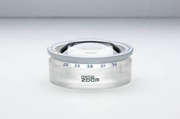 Лупа светопольная менисковая асферическая настольная с зумом menas ZOOM, диам. 65 мм, 2.2х-3.4х                       арт. Мзр24473