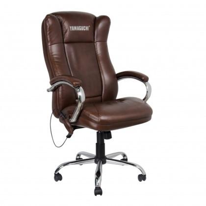 Массажное офисное кресло Yamaguchi Prestige (коричневое)                арт. UM21156