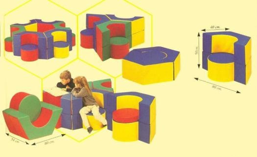 Кресло-стол «Шестигранник»                  арт. АСп19892