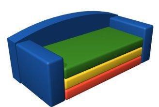 Детский игровой бескаркасный диван-трансформер                  арт. DmL23827