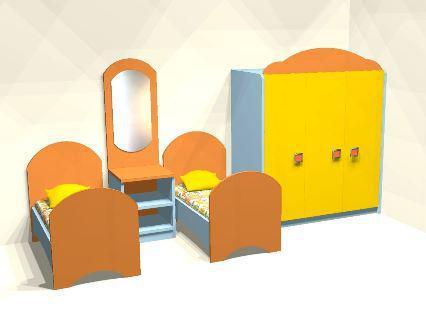 Игровая мебель Комплект Спальной мебели               арт. MKr24107