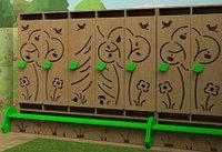 Шкаф детский для одежды со скамьей (вариант 1)               арт. MKr24119