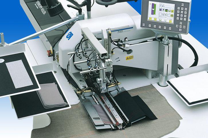 0745-35A E5907-12 Sch01 Durkopp Adler Швейная установка для изготовления прямых карманов в рамку