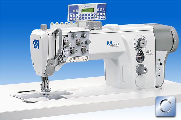 867-290142-M-E22/12-12/K01 Двухигольная швейная машина челночного стежка с ДА встроенным приводом