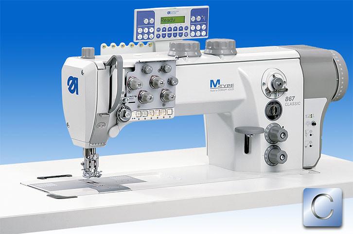 867-290322-M-E22/12-12/K01 Двухигольная швейная машина челночного стежка с ДА встроенным приводом