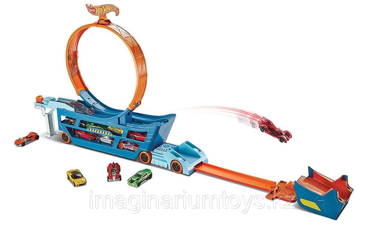 Hot Wheels Автовоз с треком Stunt&Go - фото 1