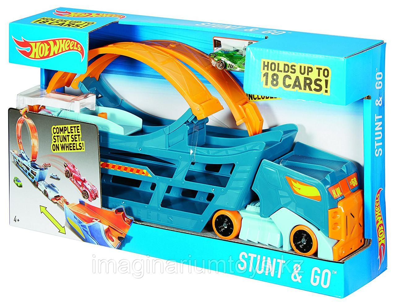 Hot Wheels Автовоз с треком Stunt&Go - фото 6