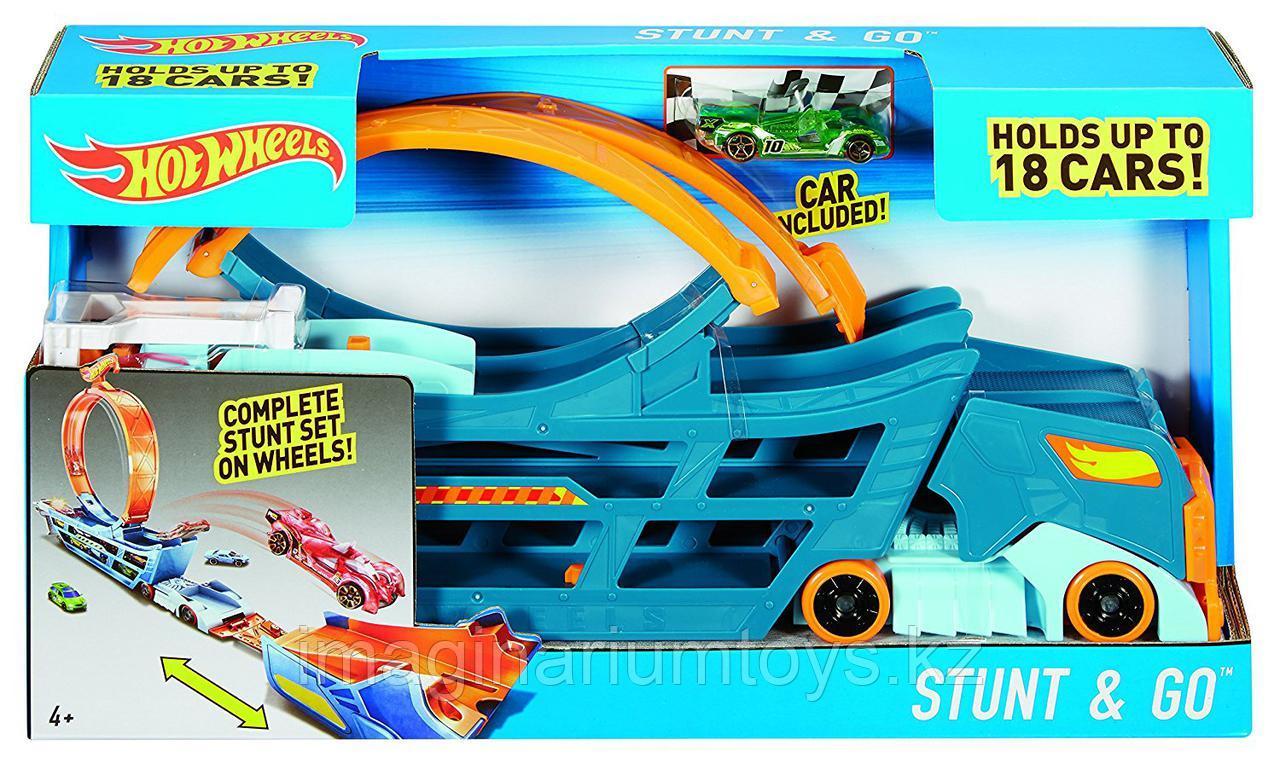 Hot Wheels Автовоз с треком Stunt&Go - фото 7