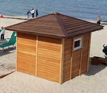 Кабинка для оказания первой помощи и отдыха пляжная душевая с санузлом             арт. OB18517
