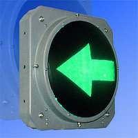 Секция стрелка зеленая левая 300 мм светофора транспортного                         арт. СцП23384