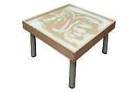 Столик на ножках для рисования песком РАДУГА. Подсветка белая           арт. SWl20878
