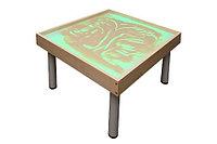Столик на ножках для рисования песком РАДУГА. Подсветка RGB           арт. SWl20880