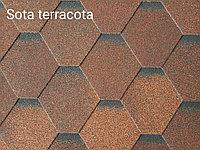 Гибкая черепица РУФЛЕКС (мягкая кровля), СБС модифицированная, Гарантия 35 лет, Sota Terracotta (Терракота)