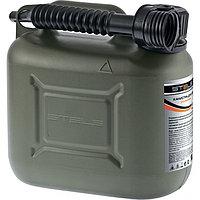 Канистра для ГСМ вертикальная 10 литров, пластиковая, усиленная STELS