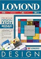 """Бумага дизайнерская 230g, A3, 20л, Lomond 0930032, глянцевая """"Мозаика/Mosaic"""""""