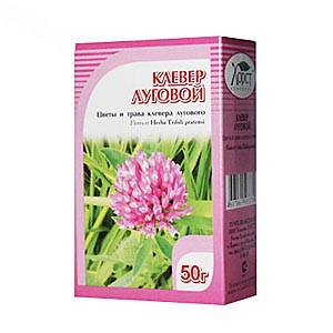 Клевер луговой, трава и цветы, 50гр