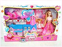 Кукла набор гардероб с домиком