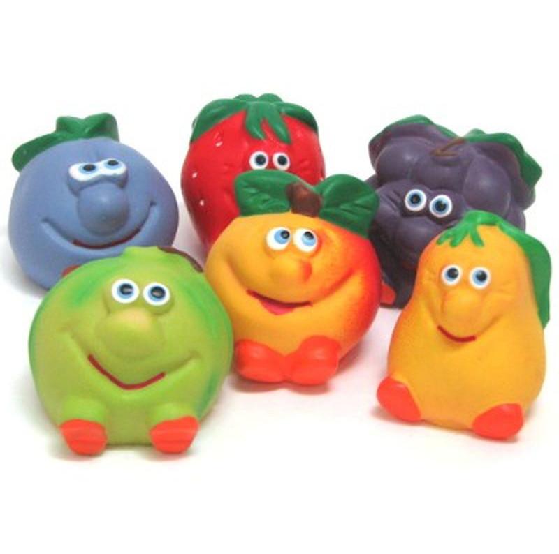 """Набор Резиновых игрушек """"Веселая фрукты"""""""
