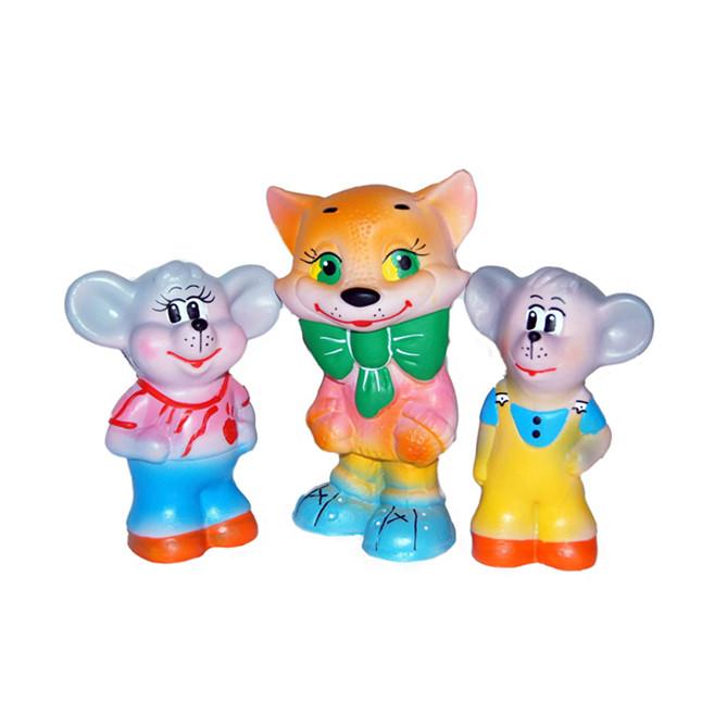"""Набор Резиновых игрушек """"Кот с мышками"""""""