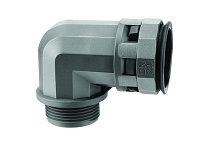 DKC Муфта 90 грд. труба-коробка DN 17 мм, М20х1,5, полиамид, цвет черный, фото 1