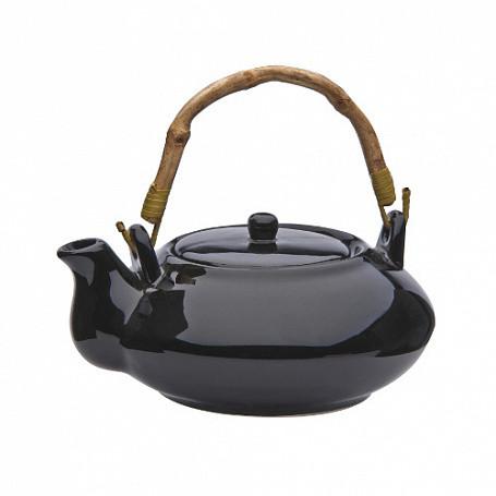 Чайник 670 мл, (в упак 1 шт) черная керамика арт.140(BLK)