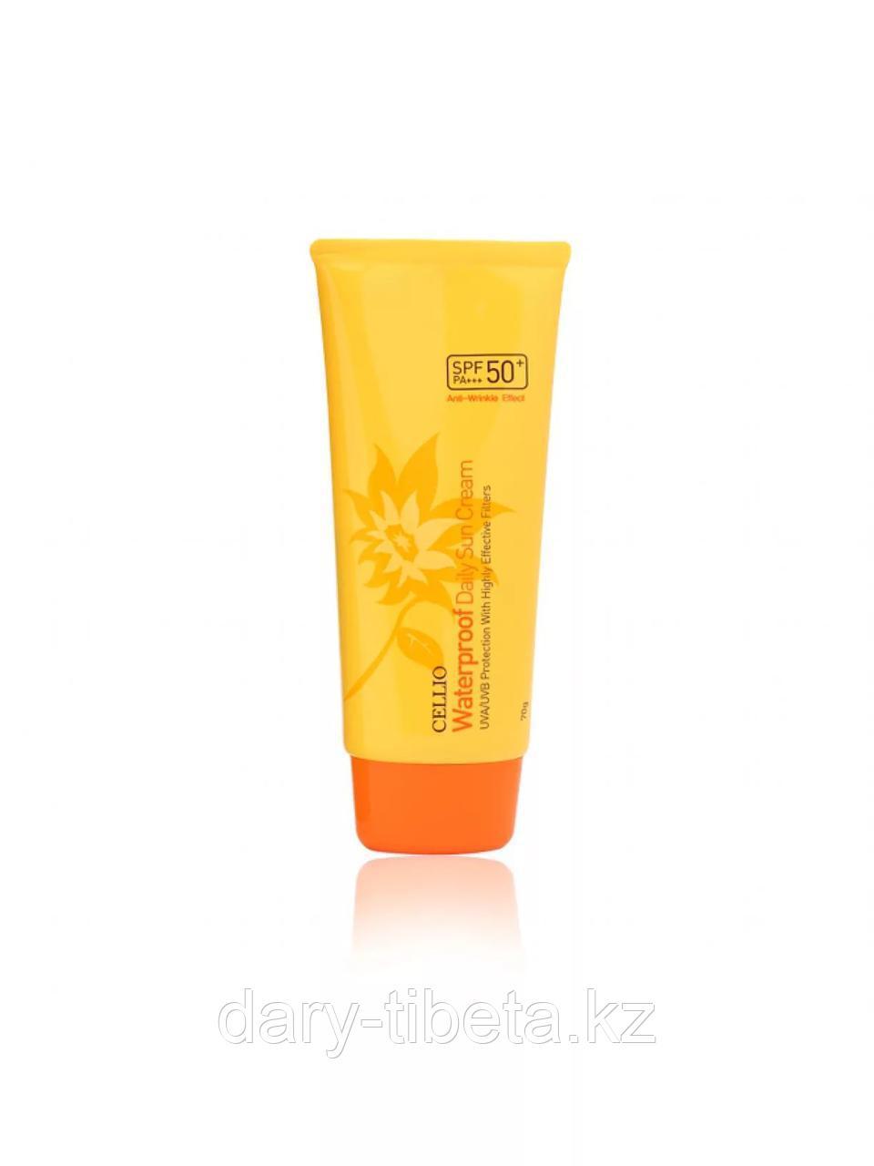 CELLIO WATERPROOF DAILY SUN CREAM 50+/PA-Водостойкий солнцезащитный крем