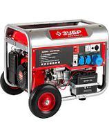 Бензиновый электрогенератор ЗУБР ЗЭСБ-5500-ЭН, двигатель 4-х тактный, ручной и электрический пуск