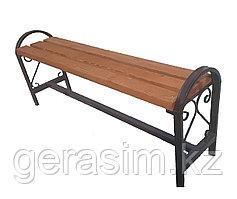 Уличная скамейка без спинки с узором и поручнями (НДС 12% в т.ч.)