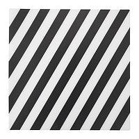 ПИПИГ Салфетка под приборы, в полоску, черный/белый, фото 1
