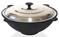 4107 FISSMAN Казан 39x16 см / 9 л со стальной крышкой (чугун)