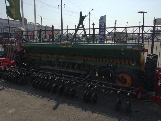 Сеялка зернотуковая Bozkurt 40 рядов 125 мм,с большими колесами,пальцевый загортач, фото 2