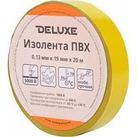 Изолента Deluxe ПВХ 0,13 х 15 мм Желтая