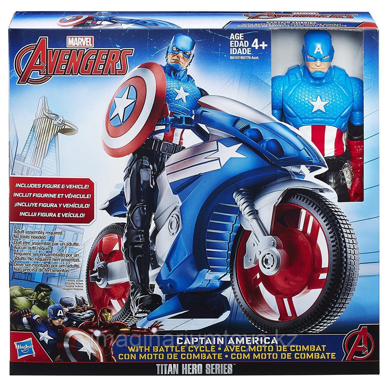 Фигурка  «Капитан Америка» с мотоциклом Hasbro