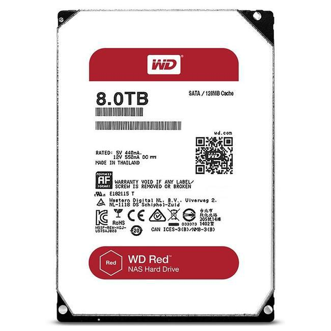 Жесткий диск WD RED WD80EFZX 8ТБ