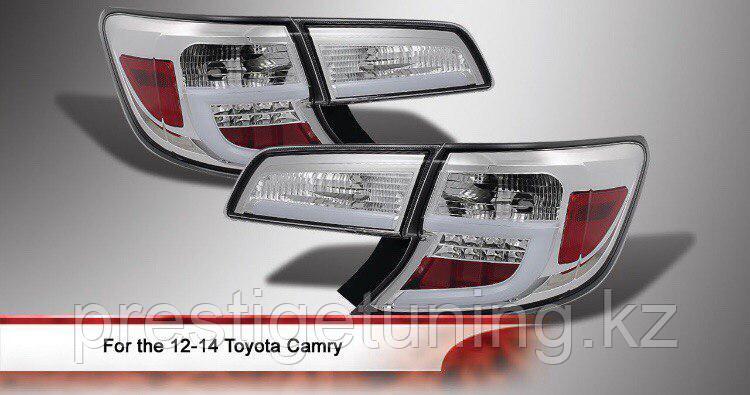 Задняя альтернативная оптика на Camry V50 USA 2011-14 White color