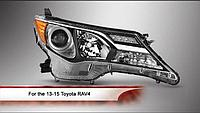 Передние фары на RAV4 2013-15