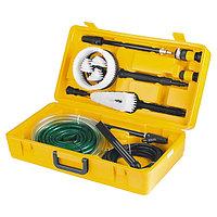 Набор аксессуаров для моек высокого давления (щетки, насадки, коннекторы, шланги) DENZEL