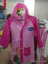 """Детский дождевик с капюшоном и карманами """"Холодное сердце"""""""