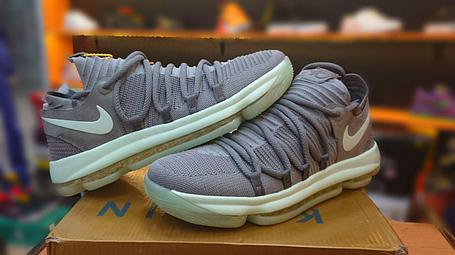 Баскетбольные кроссовки  Nike KD X (10) from Kevin Durant серые, фото 2