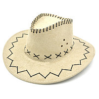Карнавальная шляпа ковбоя (белая)