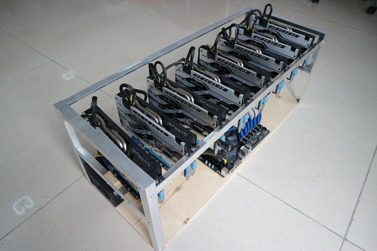 Майнинг ферма на 8 x Sapphire Nitro+ RX 580 4 GB
