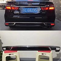 Накладка тюнинг на задний бампер Camry V55 2014-17