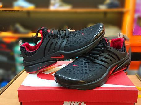 Летние кроссовки Nike Air Presto Black\Red, фото 2