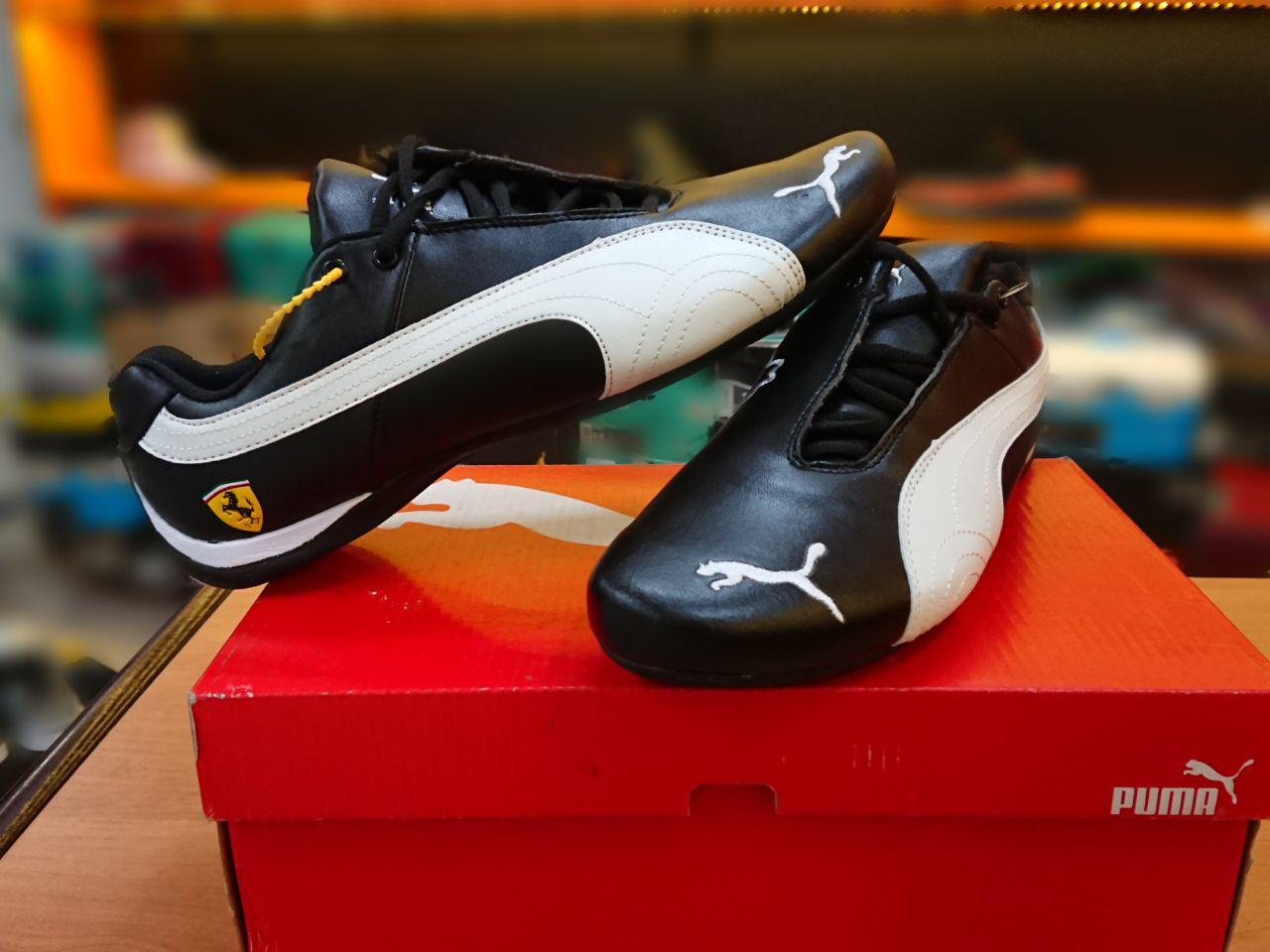 Кроссовки Puma Ferrari Design Black\white - фото 1