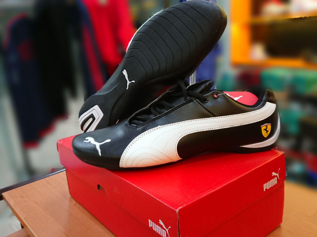 Кроссовки Puma Ferrari Design Black\white - фото 2